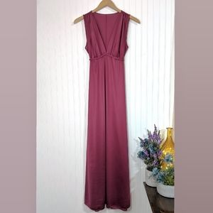 Vanity Fair Sleeveless Red Wine Dress Nightgown 4